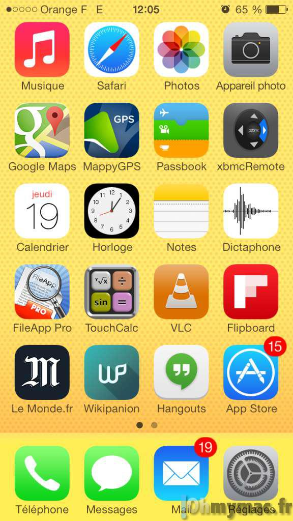 Quitter une application ou basculer entre applications for Application miroir pour iphone
