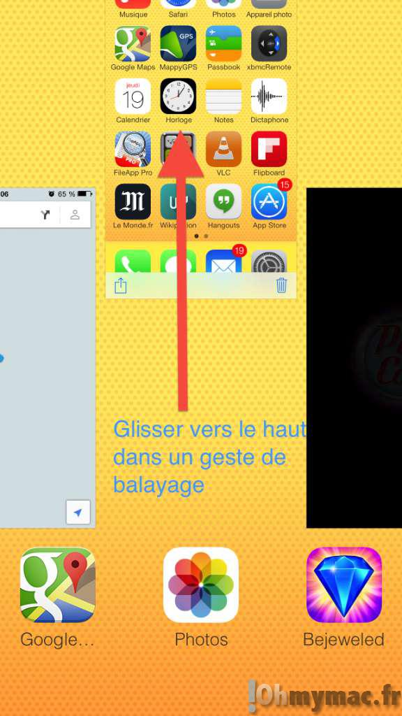 Quitter une application ou basculer entre applications avec son iPhone, son iPad et son iPod Touch sur iOS 6 et iOS 7