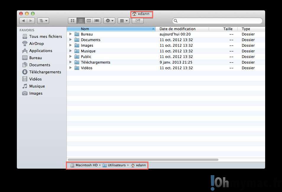 Finder Mac: comment afficher le chemin et l'arborescence lors de la navigation