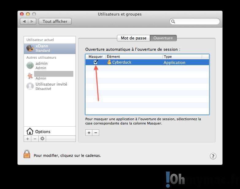 Empecher ou permettre à des applications de se lancer au démarrage de son Mac