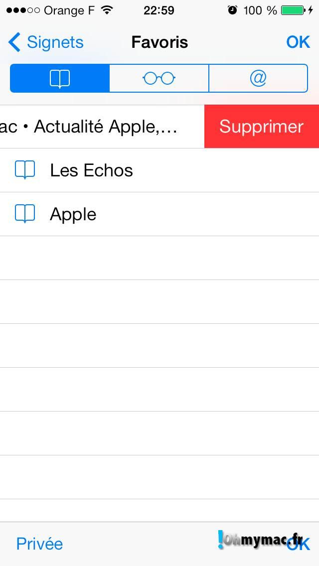 Safari iOS 7: comment créer et organiser ses favoris visuels