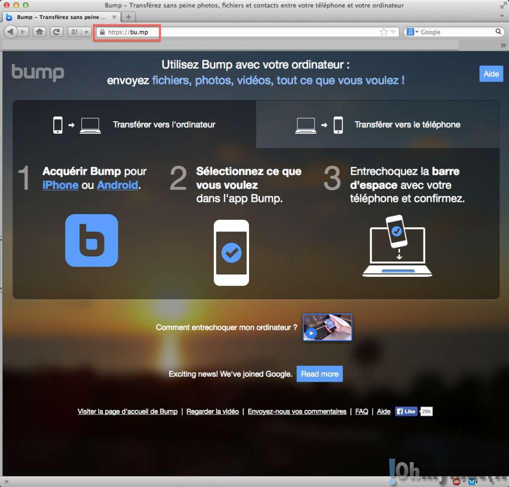 Transférer des images de votre iPhone vers votre Mac ou PC sans fil, rapidement et gratuitement avec Bump