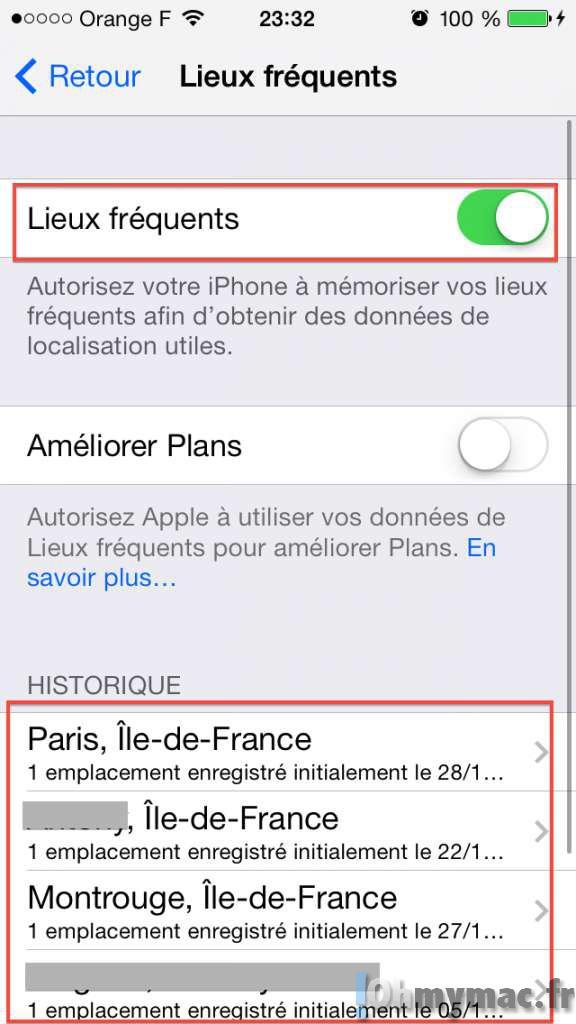 Empêcher votre iPhone de traquer votre position géographique et d'établir une liste des lieux que vous fréquentez le plus
