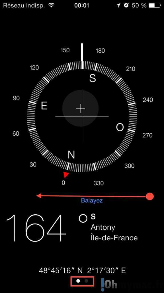 Utiliser le niveau à bulle intégré de l'iPhone