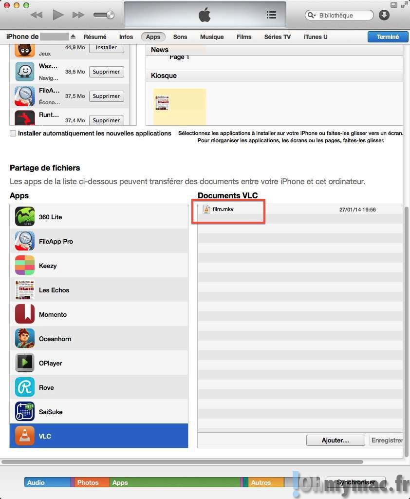 Lire tous les formats de video sur iPhone ou iPad sans conversion
