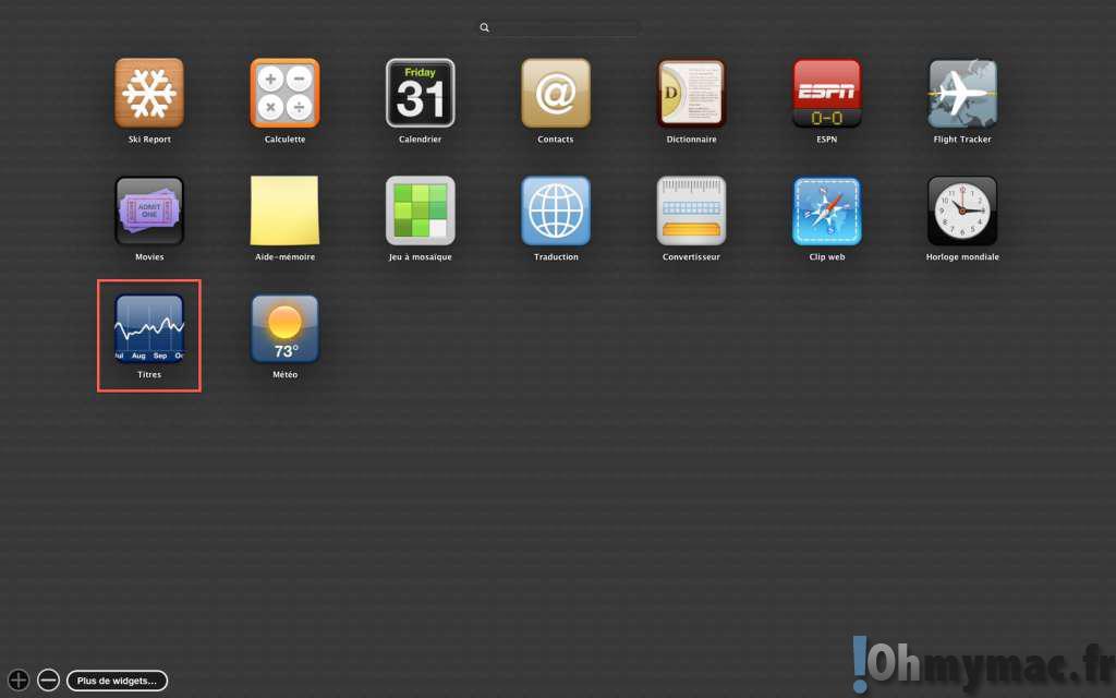 Comment afficher des widgets sur le bureau avec OS X