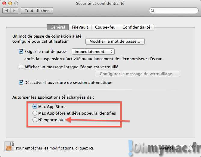 Autoriser l'installation des applications tierces sur son Mac