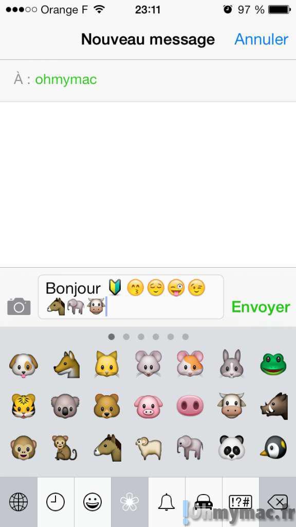 Envoyez des smileys et des icones avec vos SMS, iMessages ou emails grâce au clavier Emoji intégré de l'iPhone et de l'iPad