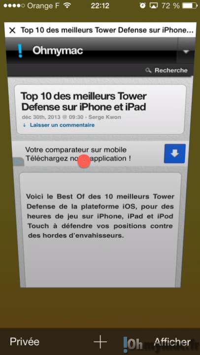 Safari Mobile: rapidement fermer toutes les fenêtres ouvertes sur iPhone ou iPad