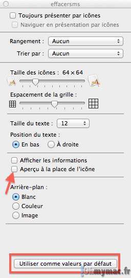 Empêcher le Finder d'utiliser un aperçu de votre fichier comme icône