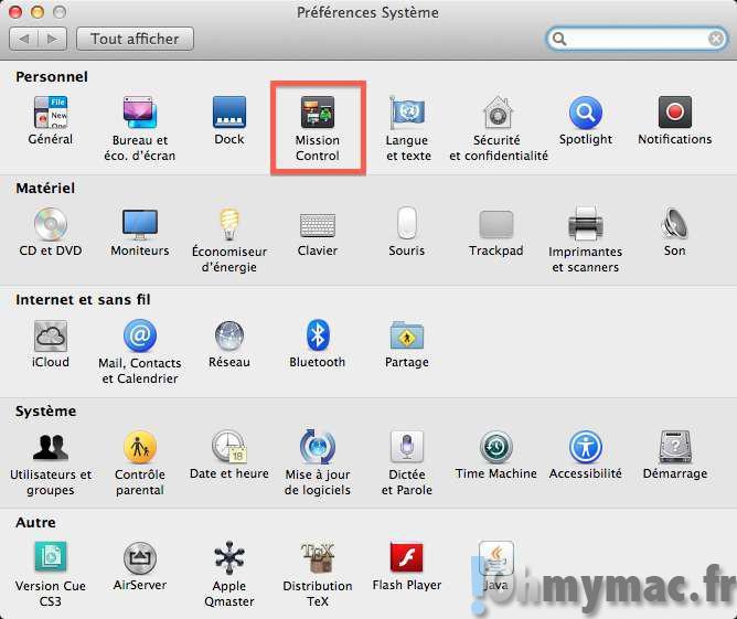 Créer et gérer les espaces et les bureaux virtuels avec Mission Control sur Mac