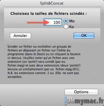 Découper un gros fichier en plusieurs sur son Mac