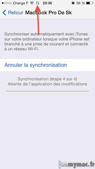 Synchroniser votre iPhone ou iPad sans fil avec votre ordinateur via Wifi