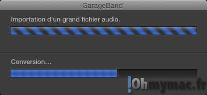 GarageBand: comment découper un fichier audio en plsueurs morceaux ?