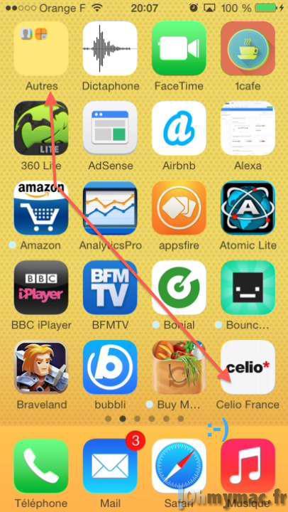 Comment ranger les icônes de l'écran d'accueil de l'iPhone ou de l'iPad par ordre alphabétique ?