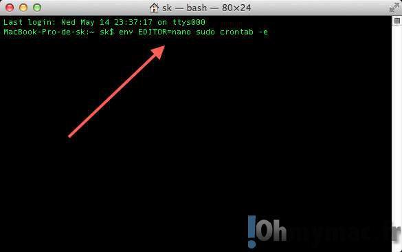 Programmer une tâche CRON pour configurer l'extinction automatique de votre Mac