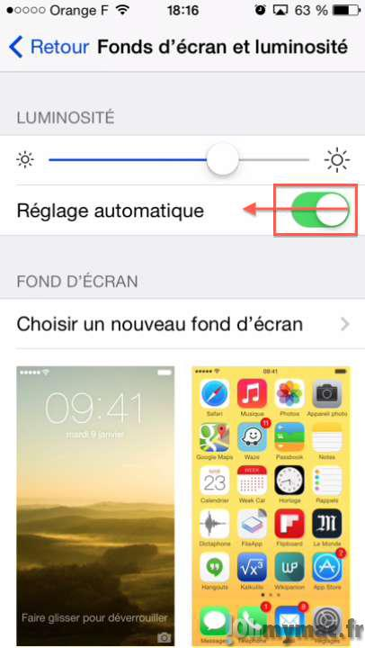 Astuces pour diminuer au maximum la luminosité de l'écran de l'iPhone ou de l'iPad