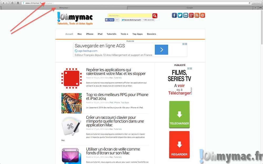 Maximiser l'affichage à l'écran avec Safari Mac