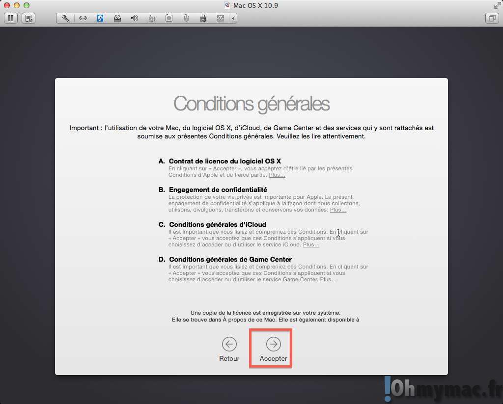 Installer OS X Yosemite sur une machine virtuelle avec VMware Fusion
