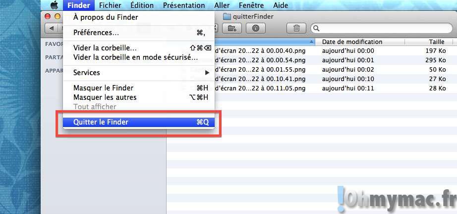 Quitter totalement le Finder du Mac