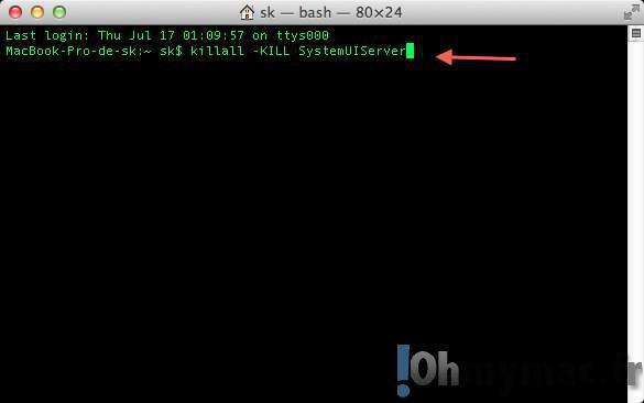 Redémarrer et réinitialiser le Finder, le Dock ou la Barre des menus du Mac