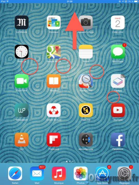 Accéder au menu multitâches sans le bouton Home sur l'iPad