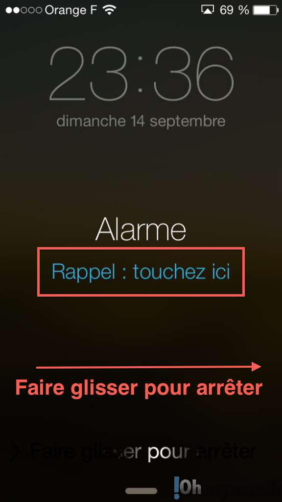 Rappel d'alarme: facilement l'activer sur iPhone et iPad