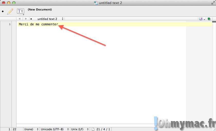 Rapidement mettre en commentaire un texte ou du code sur son Mac