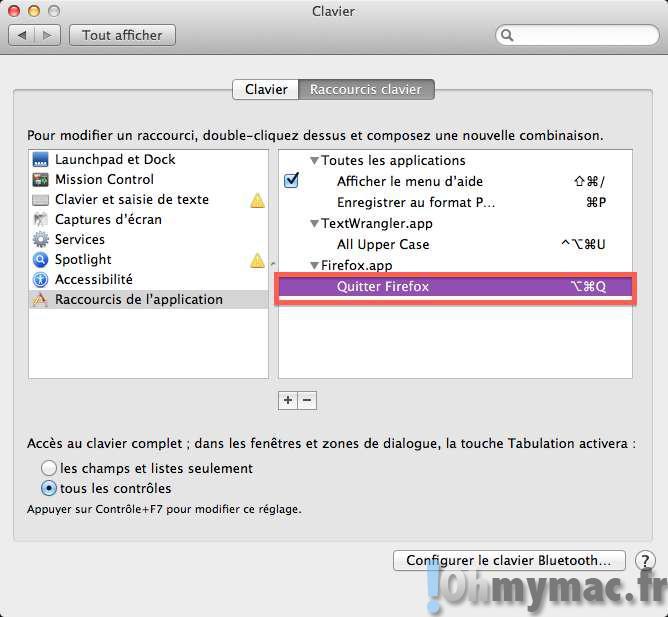 Désactiver le raccourci clavier Pomme + Q (CMD + Q) pour quitter les applications sur son Mac