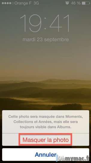 iOS 8: masquer des photos ou vidéos dans vos collections de photos sur iPhone ou iPad