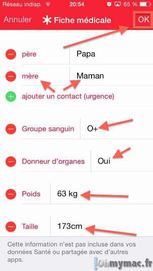iOS 8: Créer et activer votre fiche médicale sur iPhone/iPad