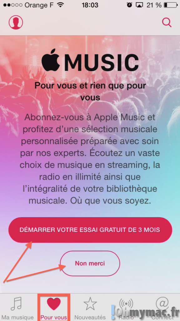 Désactiver Apple Music sur iPhone/iPad