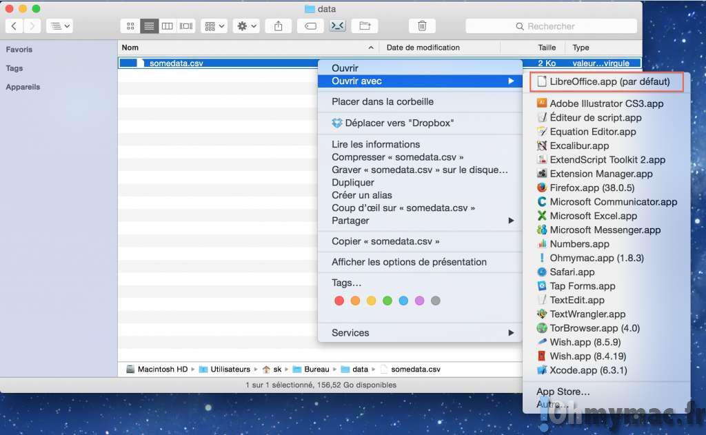 Excel Mac: ouvrir un fichier CSV