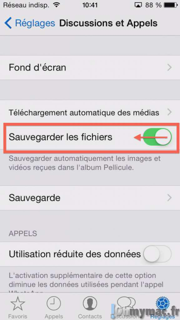WhatsApp: empêcher l'enregistrement automatique des photos et videos dans le fil de Photos iPhone/iPad