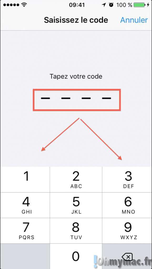 iOS 9: sécuriser son iPhone/iPad avec un code de verrouillage à 6 chiffres