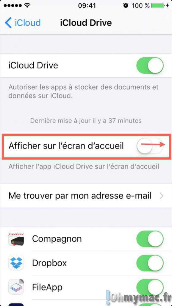 iOS 9: afficher iCloud Drive comme une application sur iPhone/iPad
