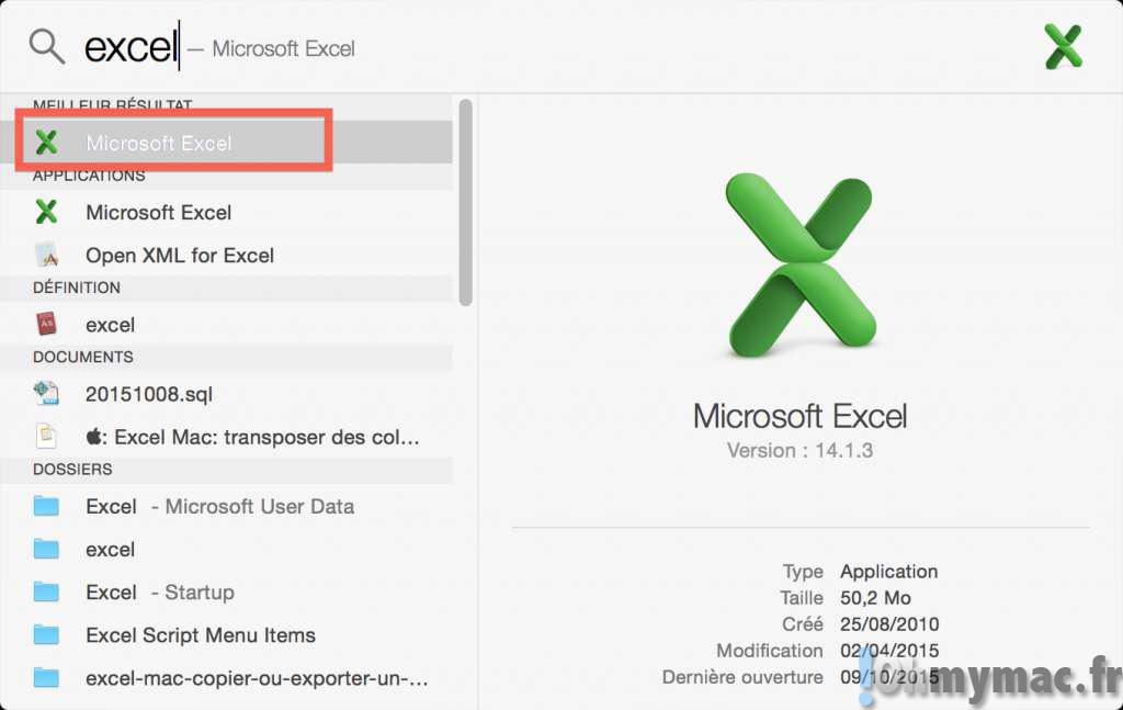 Excel Mac: définir des noms de colonnes ou de lignes