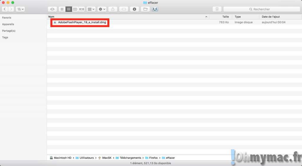 El Capitan: supprimer immédiatement un fichier sans passer par la corbeille
