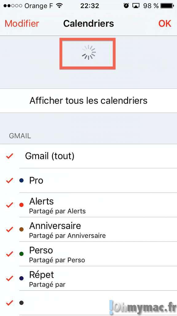 Forcer la syncronisation des Rappels, Notes et autres services iCloud sur iPhone et iPad