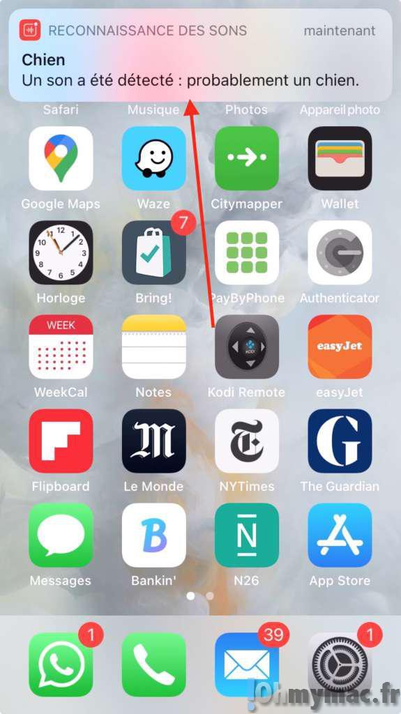 reconnaissance des sons: iOS 14: activer et utiliser la reconnaissance des sons